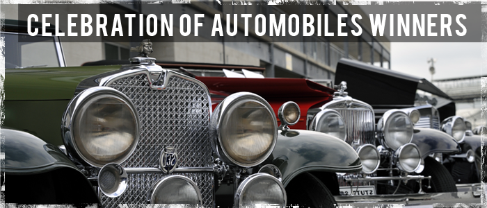 Celebration of Automobiles Winners Header Image