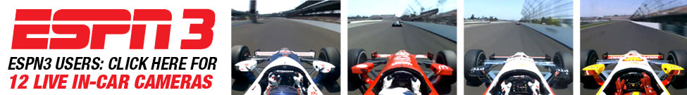 ESPN3 Indianapolis 500 Exclusive In-Car Cameras