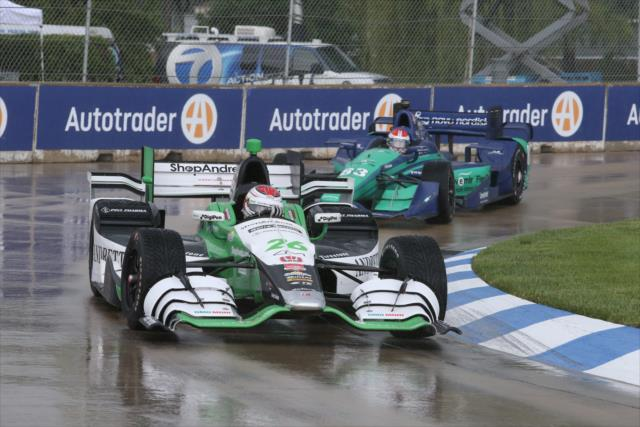IndyCar: Belle Isle, Race 1 – Munoz nabs first career win in wet