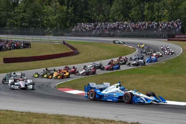 IndyCar: Mid-Ohio - Pagenaud wins from pole, but not easily
